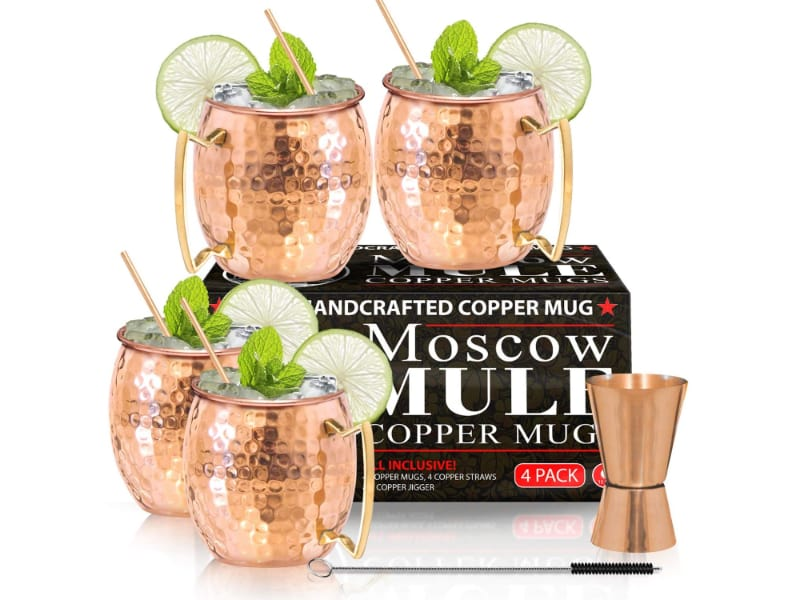 Benicci Moscow Mule Hammered Copper Mugs