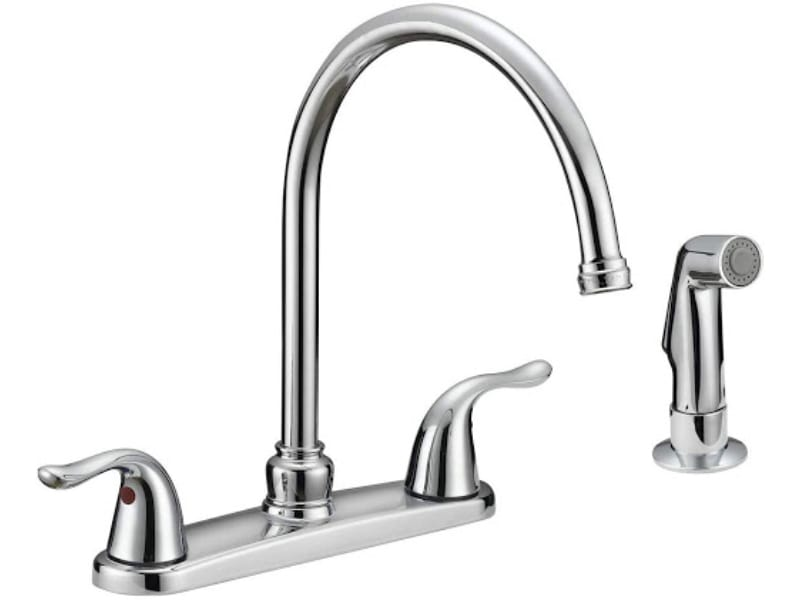 EZ-FLO 10201 2-Handle Kitchen Faucet with Pull-Out Side Sprayer