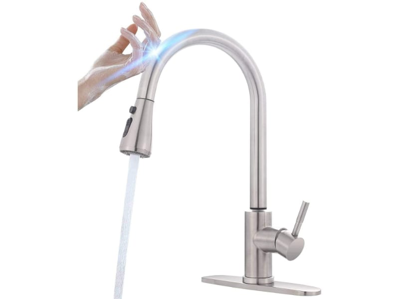 MSTJRY Stainless Steel Kitchen Sink Faucets with Pullout Sprayer