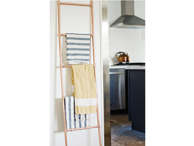 Use a Ladder to Hang Towels