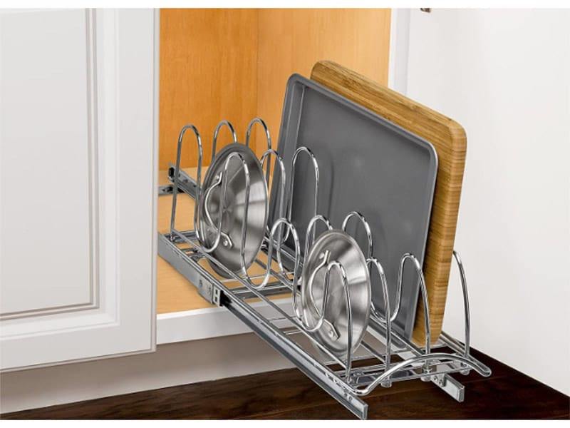 Pull-out Undercabinet Lid Holder