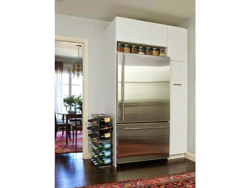 Convert the Top of the Fridge into an Open Pantry