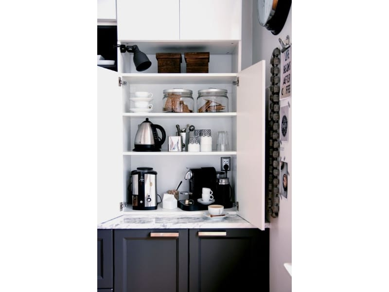 Coffee and Tea Cabinet - Photo by Bloglovin.com