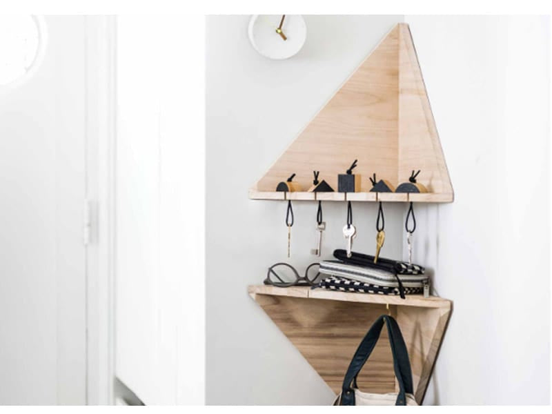 Customize Corner Shelves for Keys and Accessories