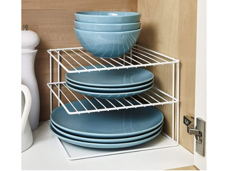 Three-Tier Plate Rack for the Corner Cabinet
