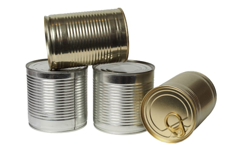 Cans for long term food storage