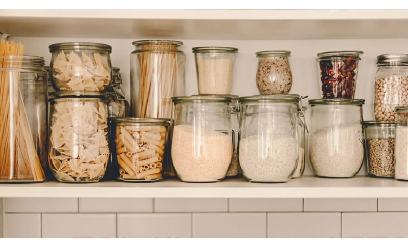 Cooking Ingredients and Spices in an Clear Containers