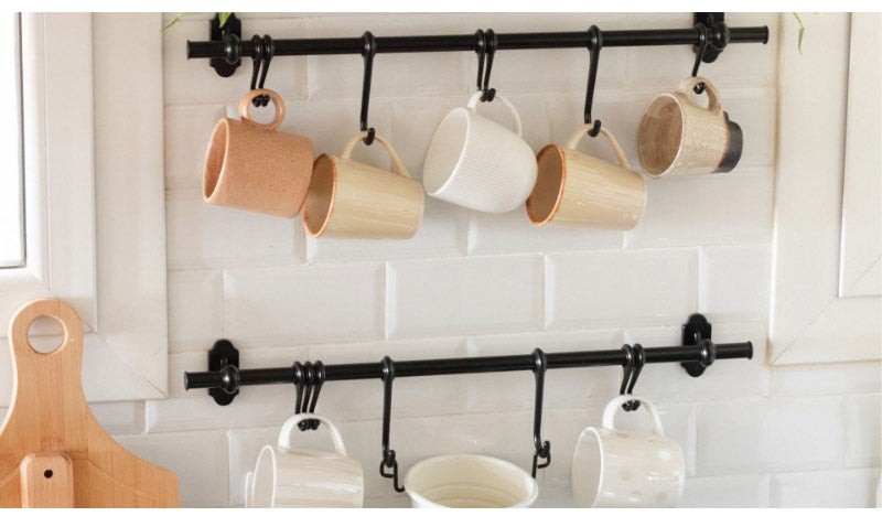 Hang Coffee Mugs on Floating Pipes or Ledges