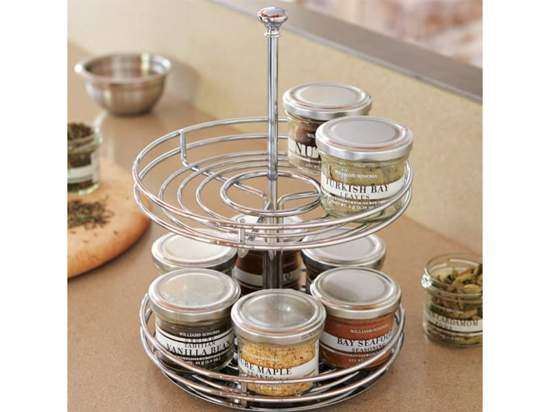Get a Two-Tier Turntable for Bottles and Jars