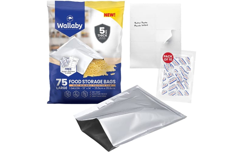 Mylar bags for long term food storage