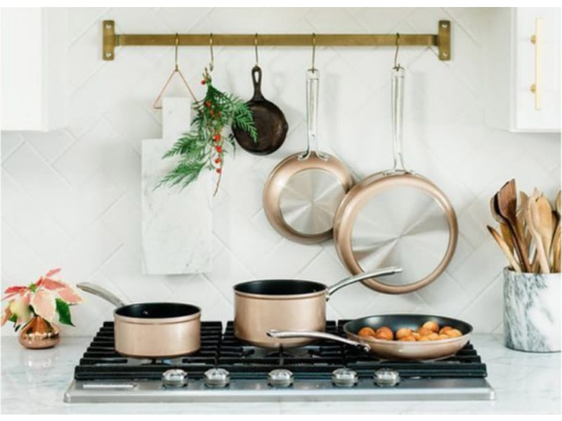 Hang Pots and Utensils Over the Cooking Range