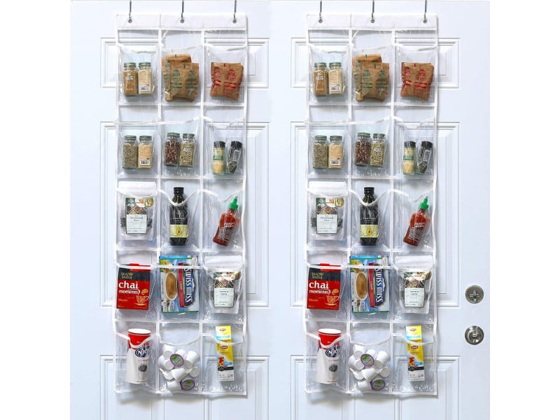 Simple Houseware Crystal Clear Over The Door Hanging Pantry Organizer
