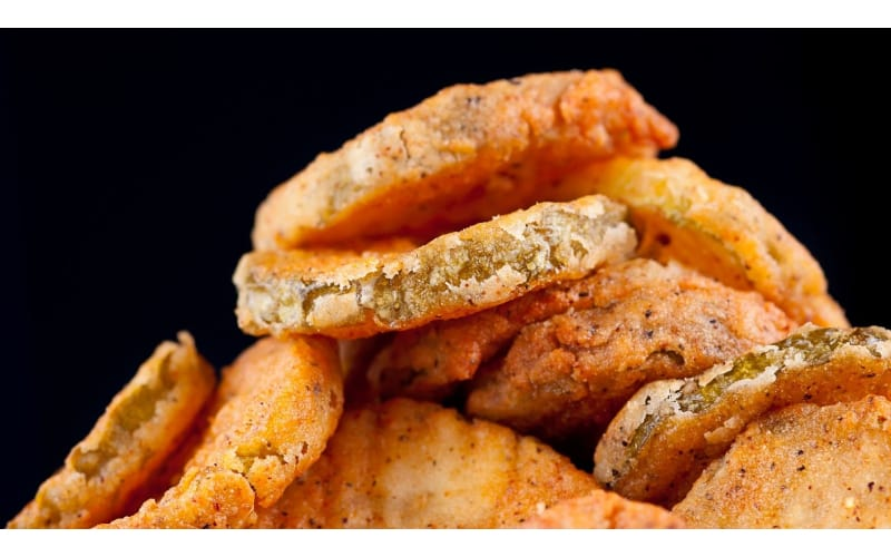 Close-up of fried pickles