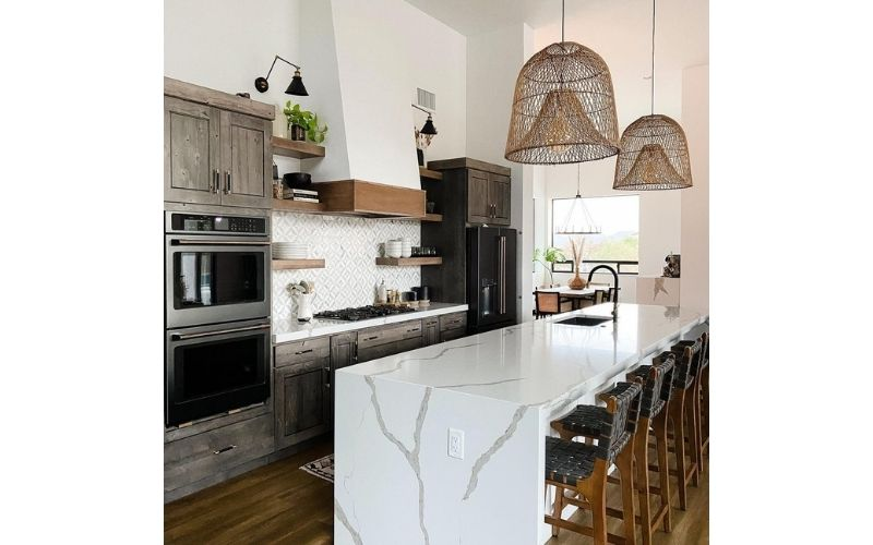 Bold Kitchen Interiors With Darker Overtones - Image by @athomeinthedeser