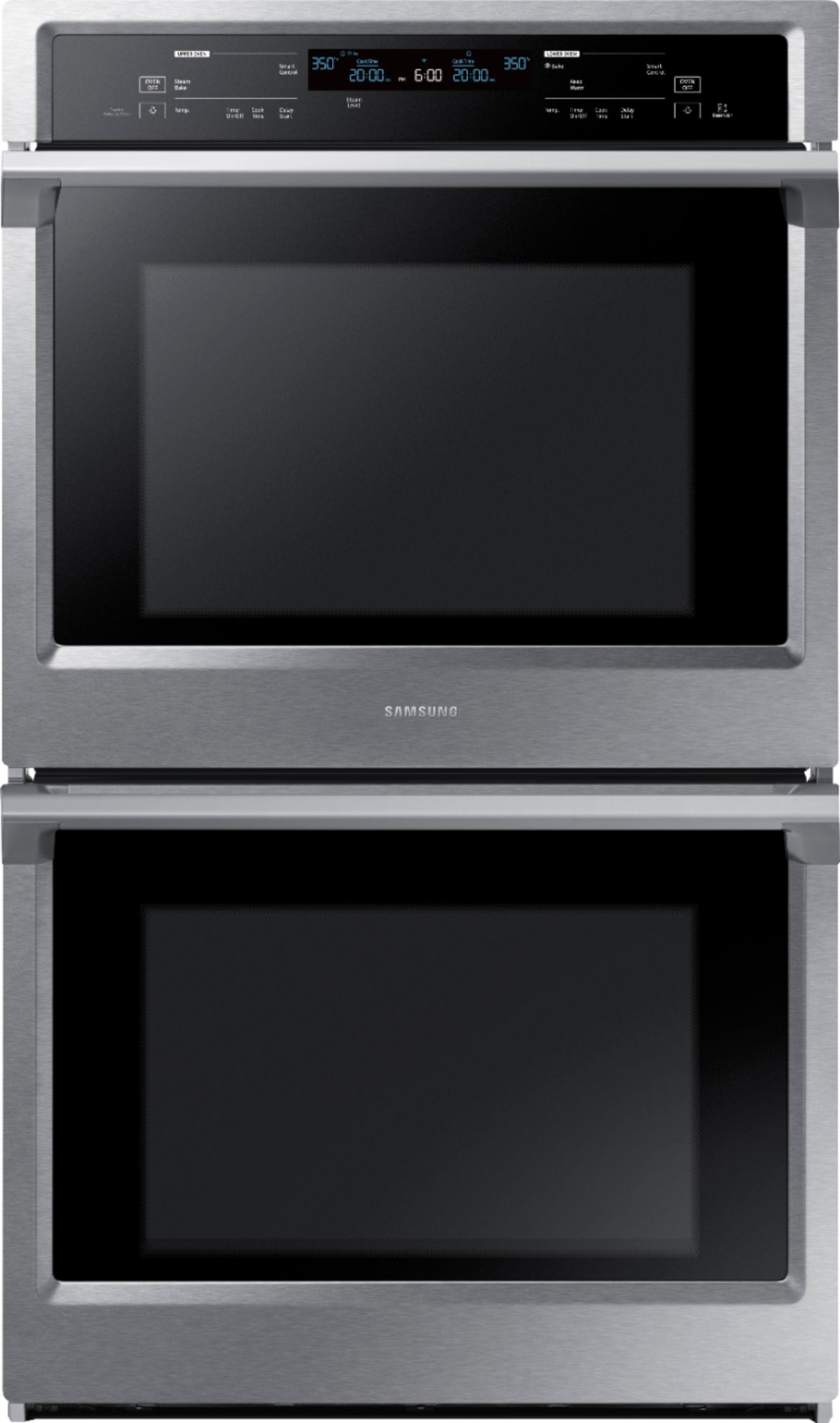 Samsung - 30 Double Wall Oven with Steam Cook and WiFi