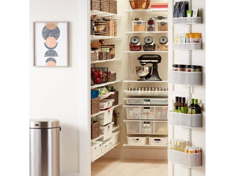 Walk-in Pantry with Foods and Mixer