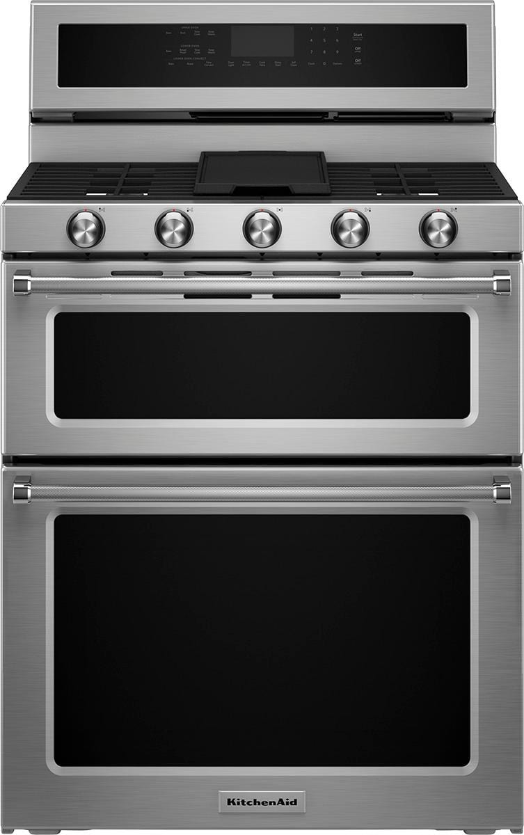 KitchenAid - 6.0 Cu. Ft. Free-Standing Double Oven
