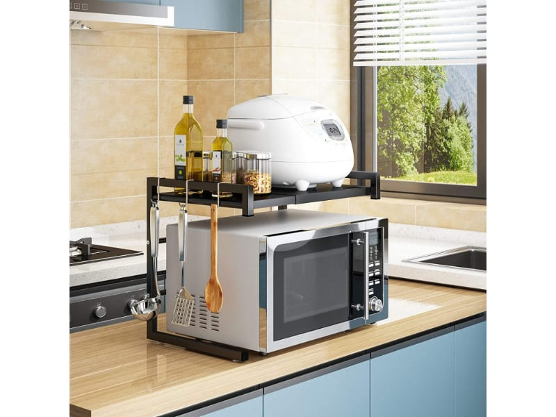 Rice Cooker On A Microwave Rack