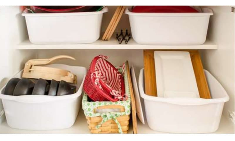 Add Pull-Out Bins to Deep Cabinets