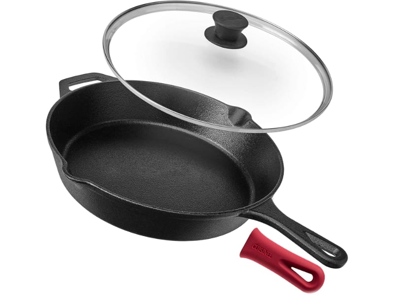 Cuisinel Cast Iron Square Grill Pan