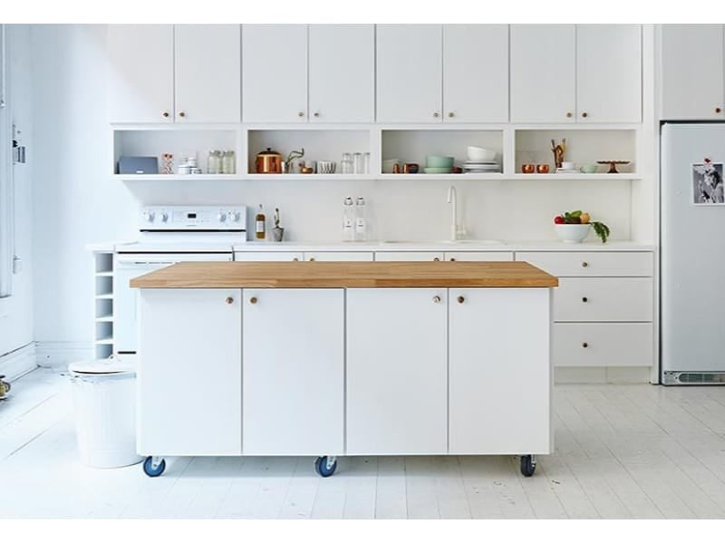 Mobile Kitchen Island with Wheels - Photo by James Ransom