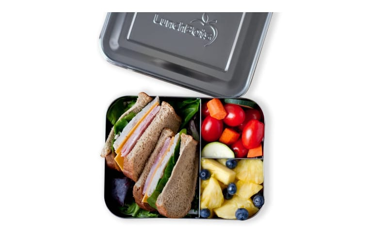 LunchBots Large Trio Stainless Steel Container