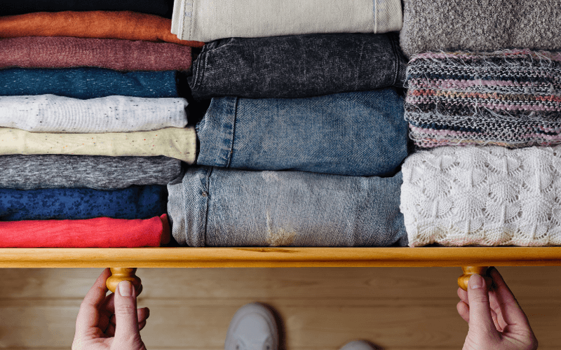 An Organized Clothes Drawer