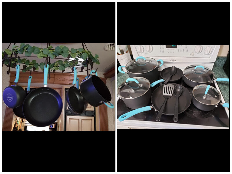 Finnhomy Aluminum Hard Anodized Cookware Set review