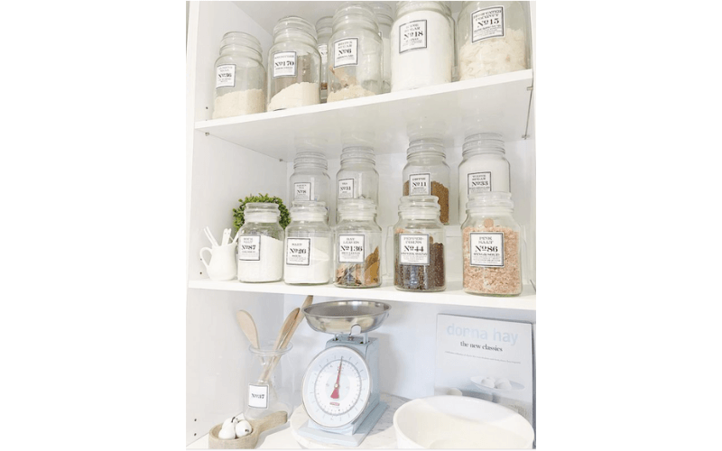 Happily Blue Home's Take On Refined Open Storage - Image by happilybluehome