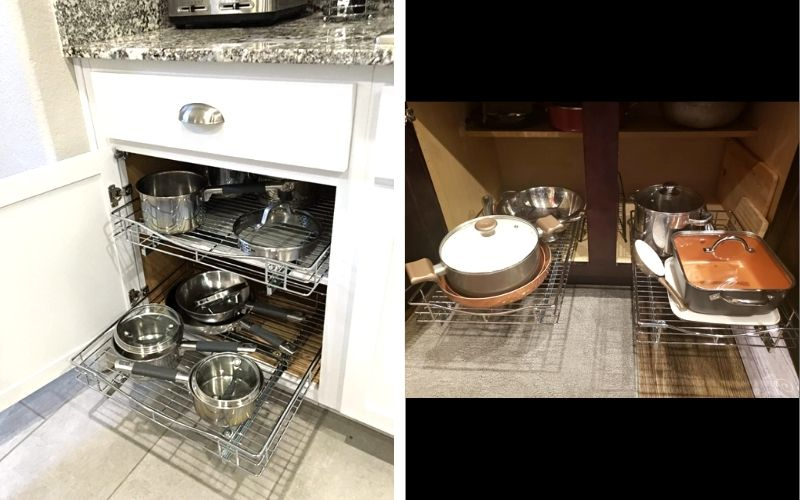 Lynk Professional Organizer Pull Out Under Cabinet Shelf