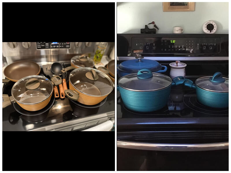 NutriChef Kitchen Hard Anodized Cookware Set review