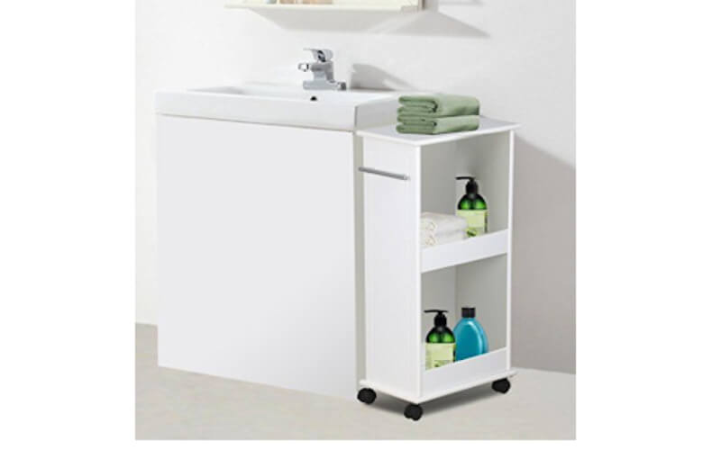 Rolling Cart With Bathroom Essentials