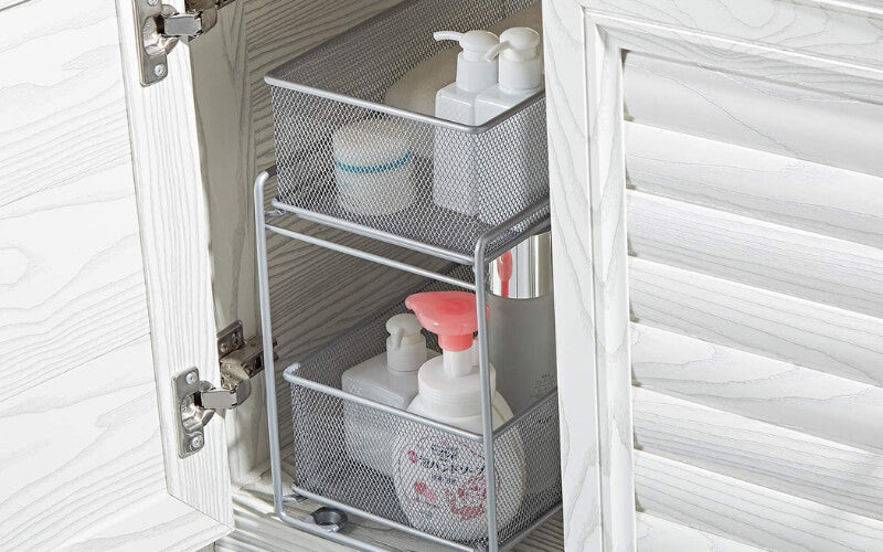 Stackable Mesh Baskets For Toiletries