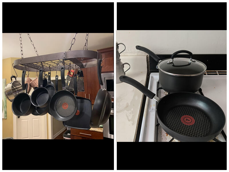 T-FAL ULTIMATE NONSTICK HARD ANODIZED COOKWARE SET reviews
