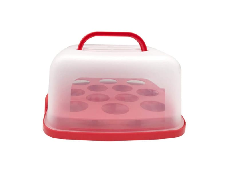 Agvvt Portable Square Cake and Cupcake Carrier