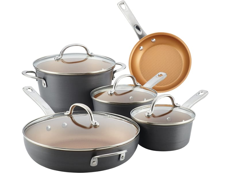 Ayesha Curry Home Collection Hard Anodized Nonstick Cookware