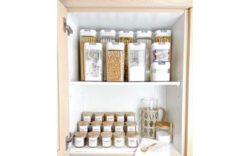 Aziza's Pantry Organized and Leveled for Convenience - Image by Aziza