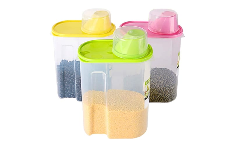Basicwise Cereal Storage Containers