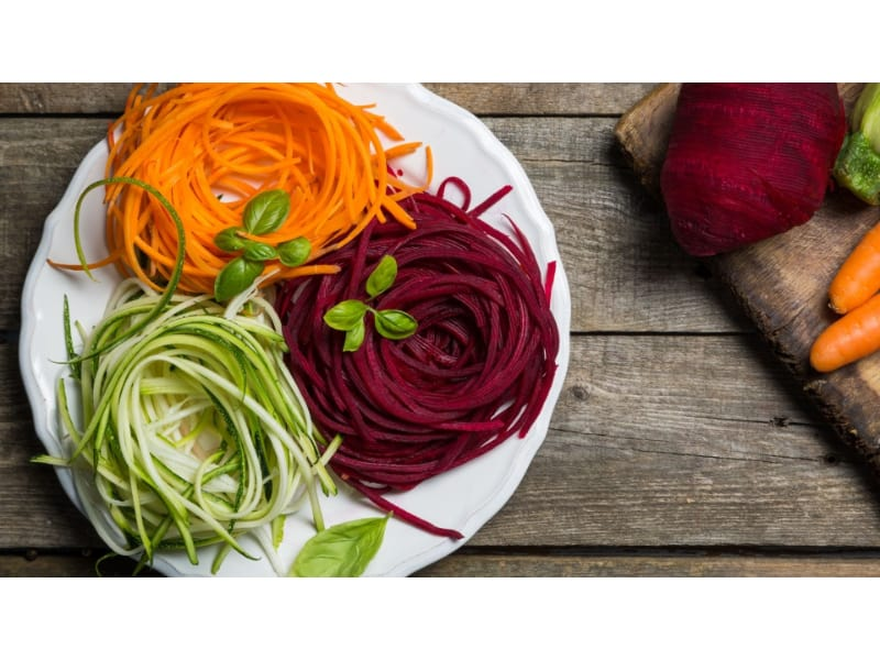 Beets, Carrots and Zucchini Pasta Main Image