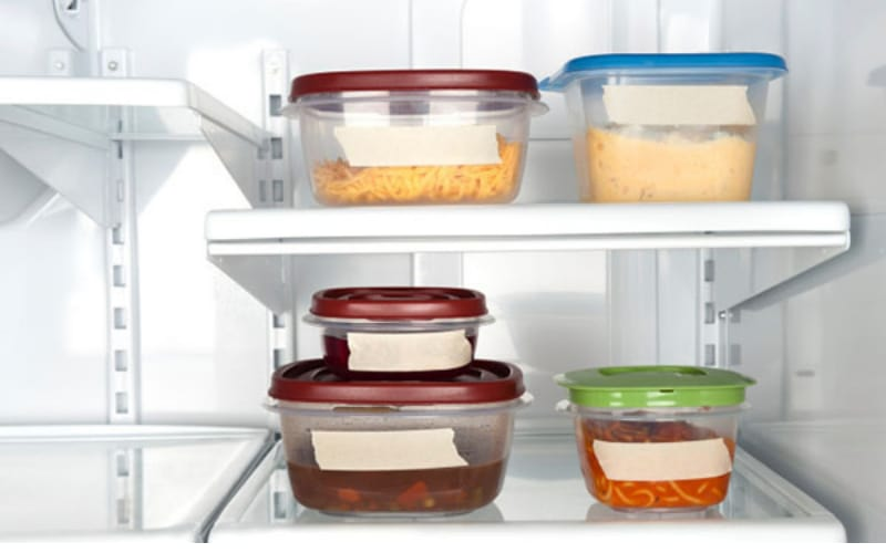 BPA-free Plastic Containers in the Fridge - Image by Eat Right