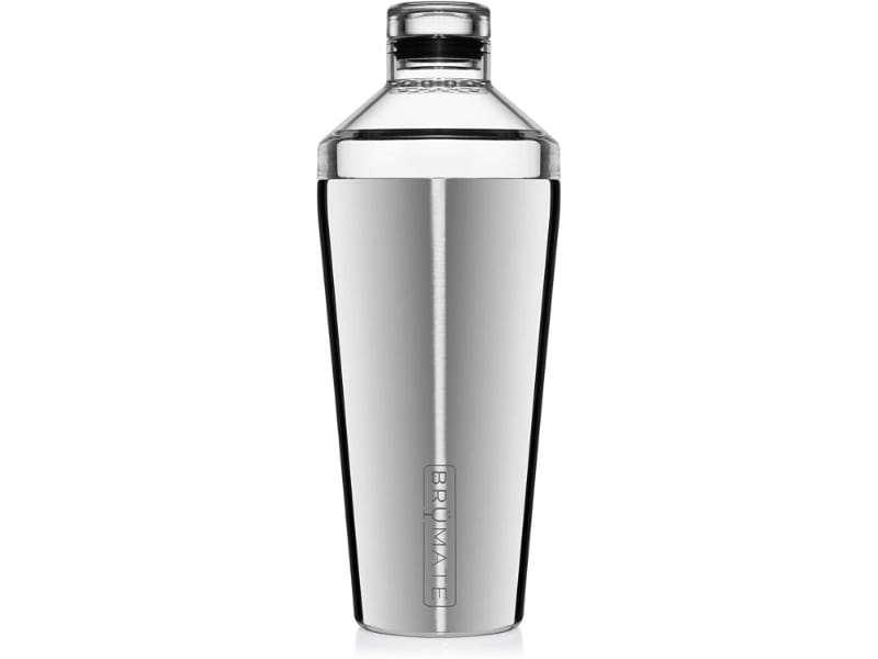 BrüMate Shaker, 20oz Triple-Insulated Stainless Steel Cocktail Shaker and Tumbler With Clear