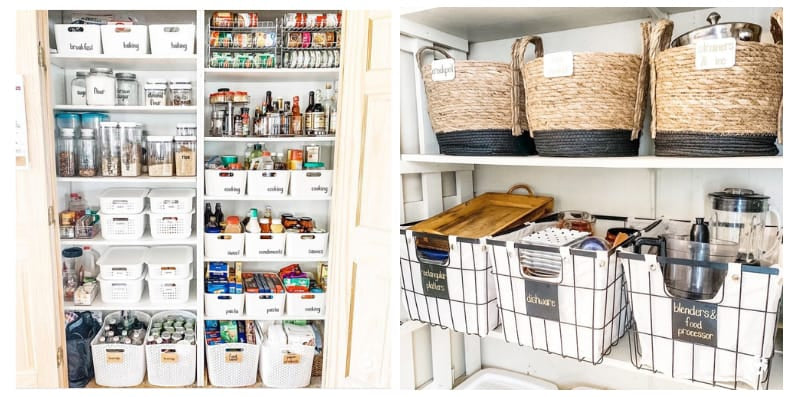 Brightly Organized Pantry with Labels and Bins - Image by Leanna Richel Pegorari