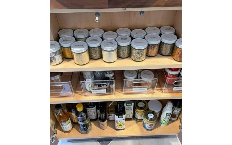 Budget-Friendly Cabinet Pantry Hacks - Image by Clutter Healing