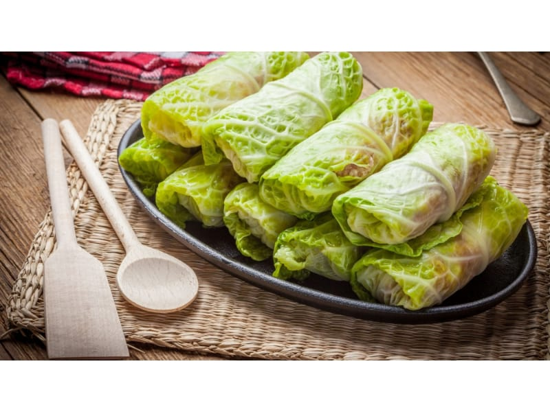 Cabbage Rolls in a platter