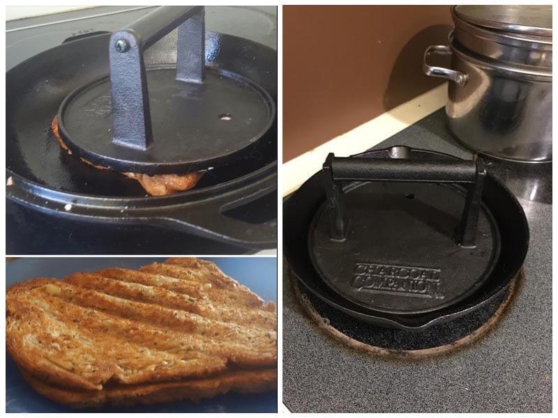 Charcoal Companion Cast Iron Grill Press review