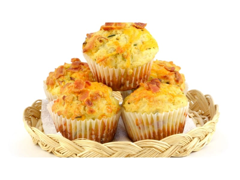 Cheddar, Bacon, and Potato Muffins