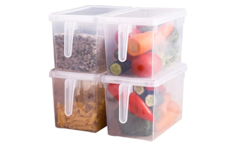 Clear Containers for the Fridge with Handles