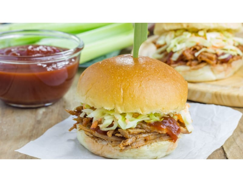 Corned Beef and Cabbage Sliders with sauce