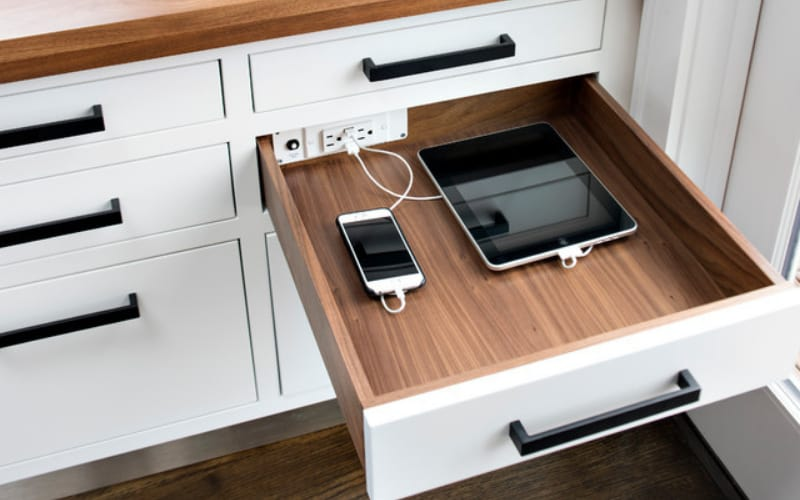 Customized Charging Pull-Out Station - Image by Houzz