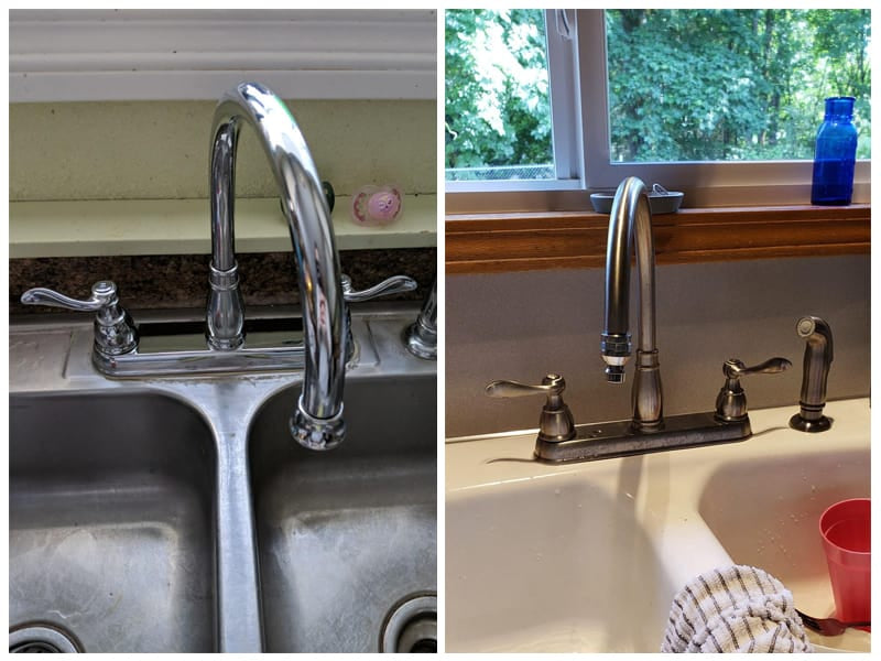 Delta Faucet Windemere Chrome Kitchen Faucet with Side Sprayer